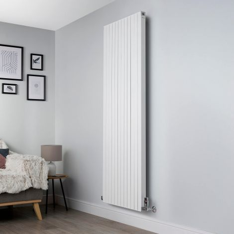 Motif White Vertical Large High Output Designer Radiator - 1750mm high x 600mm wide