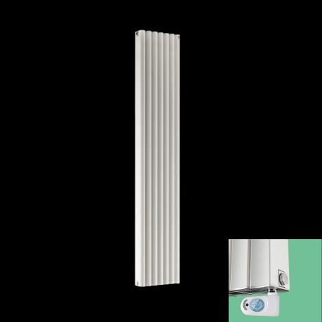 Torpedo Electric Thermostatic White Designer Radiator 1800mm x 345mm