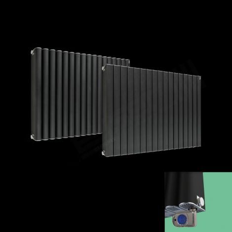 Torpedo Electric Thermostatic Anthracite Designer Radiator 600mm high x 845mm wide