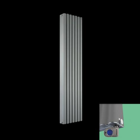 Torpedo Light Grey Thermostatic Electric Designer Radiator 1500 x 345mm
