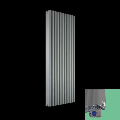 Torpedo Light Grey Thermostatic Electric Radiator 1500mm high x 545mm wide