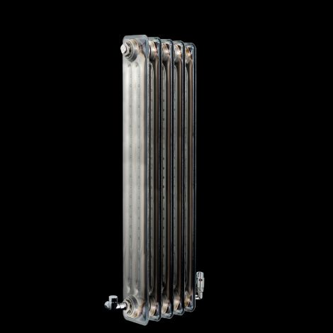 EX-DISPLAY Vasco Vintage 50 Clear Lacquered 3 Column Radiator 1000mm high x 278mm wide