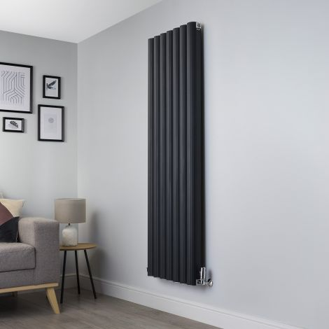 Venn Anthracite Vertical Tall High Output Designer Radiator - 1750mm high x 560mm wide