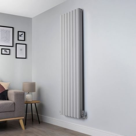 Venn Light Grey Vertical Tall High Output Designer Radiator - 1750mm high x 560mm wide