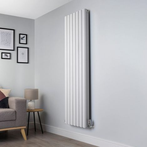 Venn White Vertical Tall High Output Designer Radiator - 1750mm high x 560mm wide
