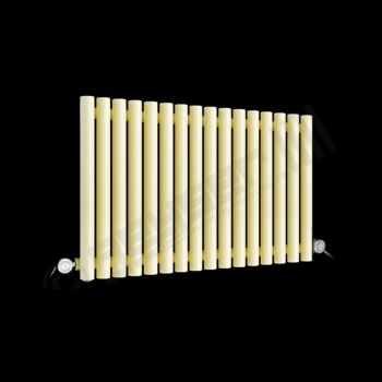 Circolo Space Saving Light Cream Electric Radiator 500mm high x 865mm wide
