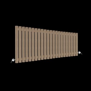 Circolo Low Level Sand Brown Electric Radiator 500mm high x 1195mm wide