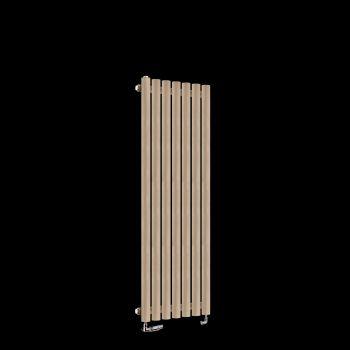 Circolo Thin Sand Brown Designer Radiator 1200mm high x 370mm wide