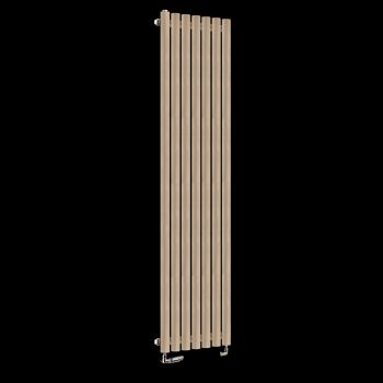 Circolo Tall Sand Brown Designer Radiator 1800mm high x 370mm wide