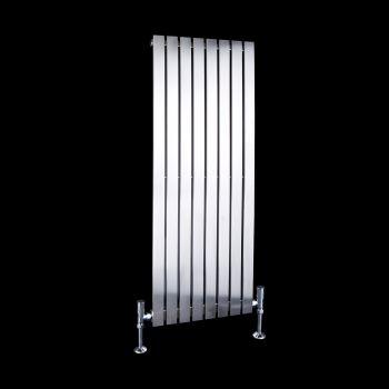 Flasteel Brushed Steel Single Panel Radiator 1000mm high x 390mm wide