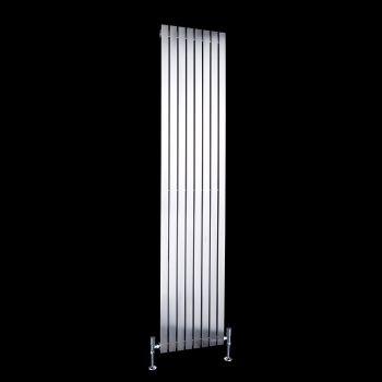 Flasteel Brushed Steel Single Panel Radiator 1800mm high x 390mm wide
