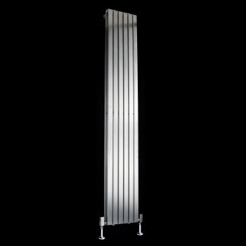 Flasteel Brushed Steel Double Panel Radiator 1800mm high x 290mm wide