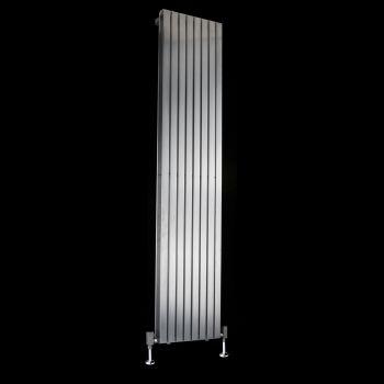 Flasteel Brushed Steel Double Panel Radiator 1800mm high x 390mm wide