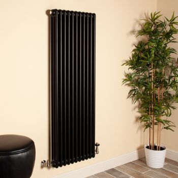 Old Style Matt Anthracite 3 Column Radiator 1500mm high x 519mm wide,Small Image,Thumbnail Image,Thumbnail Image,Small Image,Thumbnail Image,Small Image