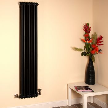 Old Style Tall Thin Matt Anthracite 3 Column Radiator 1800mm high x 339mm wide