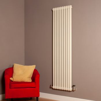 Old Style Tall Slim Matt Cream 2 Column Radiator 1800mm high x 474mm wide,Thumbnail Image,Small Image,Small Image,Thumbnail Image,Thumbnail Image,Small Image