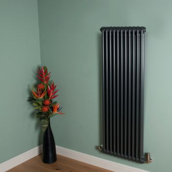 Old Style Gunmetal Grey 2 Column Radiator 1500mm high x 519mm wide,Small Image,Thumbnail Image,Small Image,Thumbnail Image,Thumbnail Image,Small Image