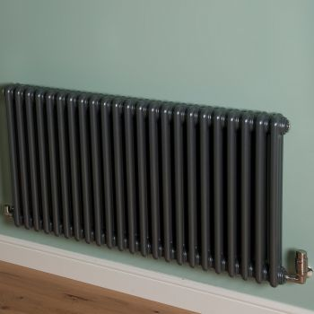 Old Style Gunmetal Grey 3 Column Radiator 600mm high x 1059mm wide,Small Image,Thumbnail Image,Small Image,Thumbnail Image,Thumbnail Image,Small Image