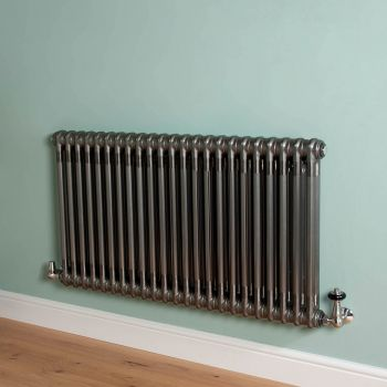 Old Style Raw Lacquered 2 Column Radiator 600mm high x 1059mm wide