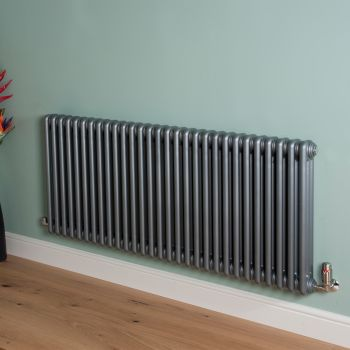 Old Style High Output Mid Grey 3 Column Radiator 600mm high x 1329mm wide