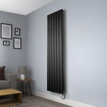 Aero Black Ecodesign Vertical Tall Electric Radiator - 1800mm high x 565mm wide