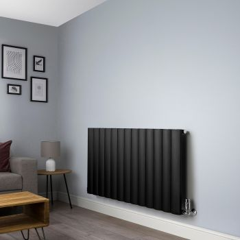 Aero Black Horizontal Designer Radiator - 600mm x 1230mm