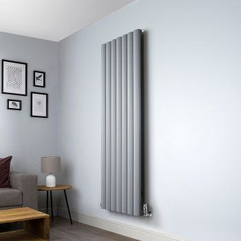 Aero Grey Vertical Designer Radiator - 1800mm x 660mm