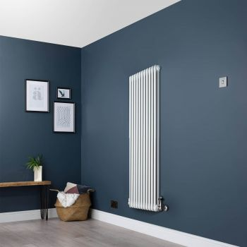 White Traditional 2 Column Radiator - 1500mm x 519mm
