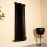 Old Style Matt Anthracite 2 Column Radiator 1500mm high x 519mm wide,Small Image,Thumbnail Image,Thumbnail Image,Small Image,Thumbnail Image,Small Image