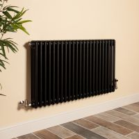 Old Style Matt Anthracite 3 Column Radiator 600mm high x 1059mm wide