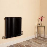 Old Style Matt Anthracite 3 Column Radiator 600mm high x 609mm wide,Small Image,Thumbnail Image,Thumbnail Image,Small Image,Thumbnail Image,Small Image