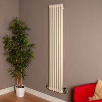 Old Style Tall Thin Matt Cream 2 Column Radiator 1800mm high x 339mm wide