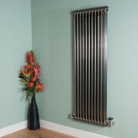 Old Style Raw Lacquered 2 Column Radiator 1500mm high x 519mm wide