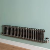 Old Style Low Level Raw Lacquered 2 Column Radiator 300mm high x 1194mm wide