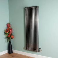 Old Style 7000 BTU Raw Lacquered 3 Column Radiator 1500mm high x 519mm wide