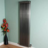 Old Style 7000 BTU Raw Lacquered 3 Column Radiator 1800mm high x 474mm wide,Small Image,Thumbnail Image,Small Image,Thumbnail Image,Thumbnail Image,Small Image