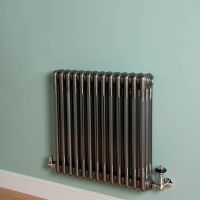 Old Style Raw Lacquered 3 Column Radiator 600mm high x 609mm wide