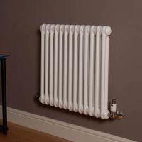 Old Style Gloss White 2 Column Radiator 600mm high x 609mm wide,Small Image,Thumbnail Image,Small Image,Thumbnail Image,Thumbnail Image,Small Image