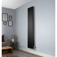 Aero Black Vertical Designer Radiator - 1800mm x 375mm