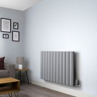 Aero Grey Vertical Designer Radiator - 600mm x 1040mm,Aero Grey Vertical Designer Radiator - Shoulder Close up,Aero Grey Vertical Designer Radiator - Flow Valve Close up,Aero Grey Vertical Designer Radiator - Return Valve Close up