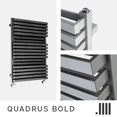 Quadrus Bold Electric Towel Rail Range